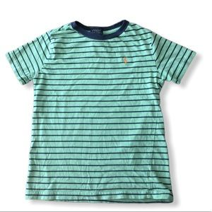 Striped polo tee-shirt